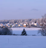 Vilage in winter. Photo of vilage in winter time stock photos