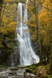 Vilagocende waterfall, A Fonsagrada, Galicia, Spain. Vilagocende waterfall is the highest waterfall in Galicia Stock Images