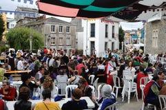 Vilalba - Spain. Vilalba , SPAIN- 9 JULY , 2011 -  Traditional Lunch  Medieval Festival  VILALBA.  Province of  Lugo.  Galiza . SPAIN Stock Photos