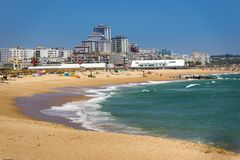 Vilamoura beach on South of Portugal Royalty Free Stock Photography