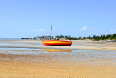 Vilanculos海滩,莫桑比克 免版税库存照片