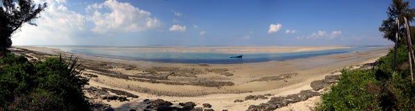 Пляж Vilanculos, Мозамбик Стоковое фото RF