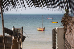 Строб пансиона в Vilanculos с видом на море Стоковое фото RF