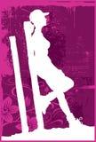 vilande kvinna 2 stock illustrationer