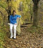 vilande trail för lady Royaltyfria Bilder