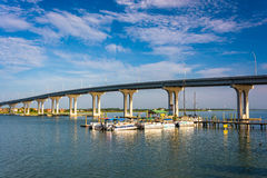 The Vilano Causeway, in Vilano Beach, Florida. Stock Photography
