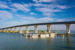 The Vilano Causeway, in Vilano Beach, Florida. Stock Photography