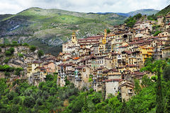 Vilas tradicionais do moutain em França Imagem de Stock