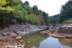 Vilasha rzeka z pięknymi brzeg zdjęcia stock