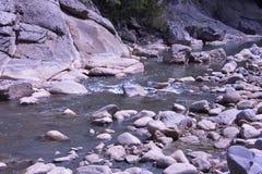 Vilasha rzeka z pięknymi brzeg fotografia royalty free
