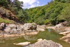 Vilasha rzeka z pięknymi brzeg zdjęcia royalty free