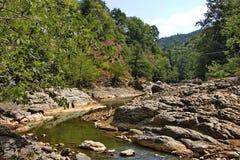 Vilasha rzeka z pięknymi brzeg zdjęcie royalty free