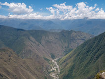 Vilcanota河, Urubamba河谷 anding 秘鲁 免版税库存照片