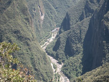 Vilcanota河, Urubamba河谷 anding 秘鲁 免版税库存图片