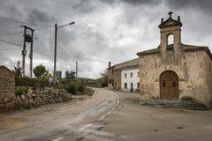 Vildé wioska i antyczny ermitaż na deszczowym dniu, Soria Obrazy Royalty Free