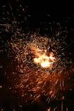 vild brand Arkivfoton
