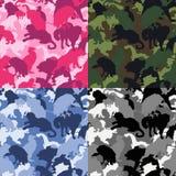 Vilda djurkamouflage royaltyfri illustrationer