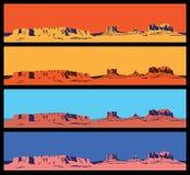 Vilda västernkortkortuppsättning Arkivbilder