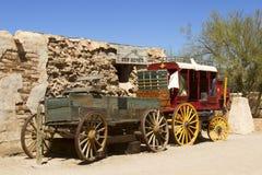 Vilda västernvagn Arkivbild
