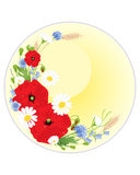 Vildblommahälsningkort Arkivfoton