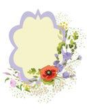 Vildblommakrans Royaltyfri Illustrationer