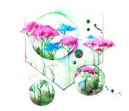 vildblommar vektor illustrationer