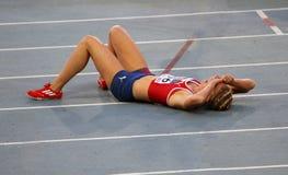 Vilde J. Svortevik de Norvège après 400 mètres Photo libre de droits