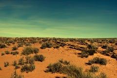 Vildmark någonstans i Utah arkivbild