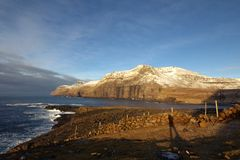 Vildmarken av Faroeen Island Arkivbild