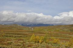 Vildmarksägen το φθινόπωρο στη Σουηδία Στοκ Φωτογραφίες