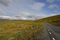 Vildmarksägen το φθινόπωρο στη Σουηδία Στοκ Εικόνα