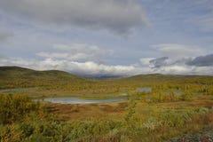Vildmarksägen το φθινόπωρο στη Σουηδία Στοκ Φωτογραφία