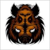 Vildsvinhuvud Logo Mascot Emblem Arkivbilder