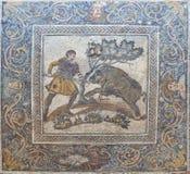 Vildsvinjaktmosaik, Merida, Spanien Royaltyfri Fotografi