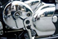 Vilebrequin de moto Photo libre de droits