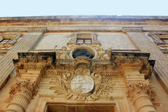 Vilhena宫殿在Mdina,马耳他 免版税图库摄影