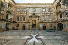 Vilhena Palace in Mdina,Malta stock photo