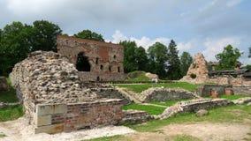 Viljandi rozkazu kasztelu ruiny w Estonia fotografia stock