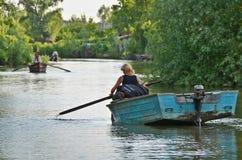 VILKOVO, УКРАИНА - 19-ое мая: Перепад Дуная. Стоковая Фотография RF