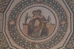 Villa在广场armerina的del Casale马赛克,西西里岛 免版税图库摄影