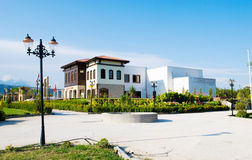 Villa. A villa and landscape is in asia Royalty Free Stock Photos