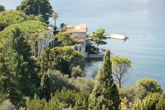 Villa. The cote d 'azur of france, the mediterranean sea Royalty Free Stock Photo