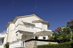 Villa. View of nice modern villa in tropic environment Stock Photo