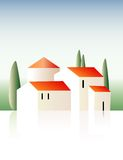 Villa. Vector illustration of the provence villa Stock Images