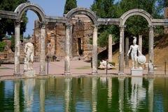 Villa Adriana. Canopus of the Hadrian Villa in Tivoli, Italy Royalty Free Stock Images