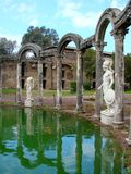 Villa Adriana dichtbij Rome, Italië stock afbeeldingen