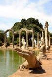Villa Adriana dichtbij Rome, Italië Royalty-vrije Stock Foto's