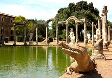 Villa Adriana dichtbij Rome, Italië Stock Foto's