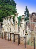 Villa Adriana i Tivoli nära Rome fotografering för bildbyråer