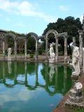 Villa Adriana près de Rome, Italie Images libres de droits